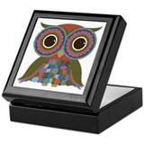 Little Colorful Owl Keepsake Box