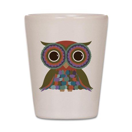 Little Colorful Owl Shot Glass