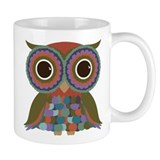 Little Colorful Owl Coffee Mug