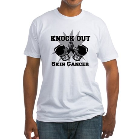 Knock Out Skin Cancer Fitted T-Shirt