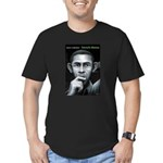 Men's Fitted T-Shirt (dark) barack obama