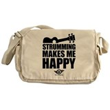 Strumming Ukulele Makes Me Ha Messenger Bag