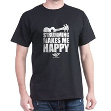 Strumming Ukulele Makes Me Ha T-Shirt