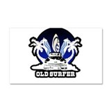 Old Surfer Car Magnet 20 x 12