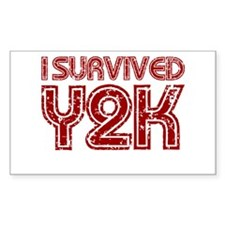 I Survived Y2K - Red Decal