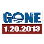 GONE 1.20.2013 Sticker (Rectangle 10 pk)