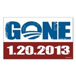GONE 1.20.2013 Sticker (Rectangle 50 pk)