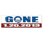 GONE 1.20.2013 Sticker (Bumper)