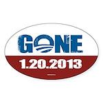 GONE 1.20.2013 Sticker (Oval 10 pk)