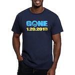 GONE 1.20.2013 Men's Fitted T-Shirt (dark)