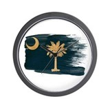 South Carolina Flag Wall Clock