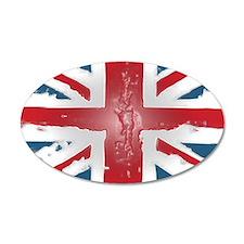 Union Jack British flag Abst 38.5 x 24.5 Oval Wall