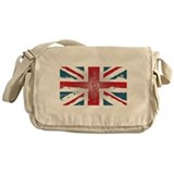 Union Jack British flag Abst Messenger Bag