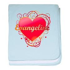 Evangeline Valentines baby blanket