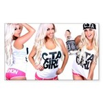 C.TA Girl Laci Kay Sticker (Rectangle)