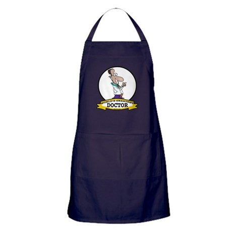 WORLDS GREATEST DOCTOR CARTOON Apron (dark)