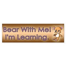 Manic Teddy Bumper Sticker