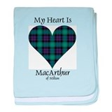 Heart - MacArthur of Milton baby blanket