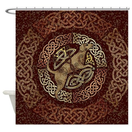 Celtic Dog Shower Curtain