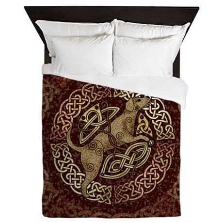 Celtic Dog Queen Duvet Cover