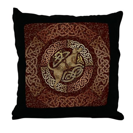 Celtic Dog Throw Pillow