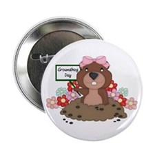 "Groundhog Girl 2.25"" Button"