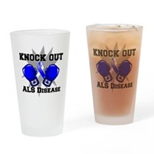 Knock Out ALS Drinking Glass