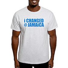 CHANGE AT JAMAICA Ash Grey T-Shirt