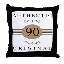 Authentic 90th Birthday Throw Pillow