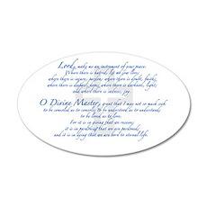 Prayer of St. Francis 38.5 x 24.5 Oval Wall Peel
