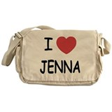 I heart jenna Messenger Bag