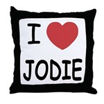 I heart jodie Throw Pillow