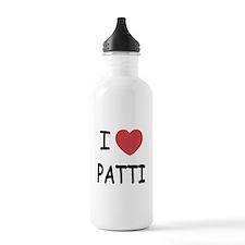 I heart patti Water Bottle