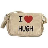 I heart hugh Messenger Bag
