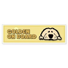 Golden on Board Bumper Bumper Sticker