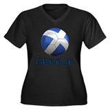Team Greece Women's Plus Size V-Neck Dark T-Shirt