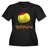Team Spain Women's Plus Size V-Neck Dark T-Shirt