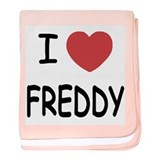 I heart freddy baby blanket