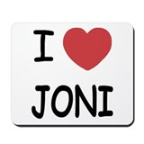 I heart joni Mousepad