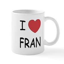 I heart fran Small Mug