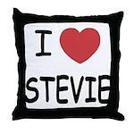 I heart stevie Throw Pillow