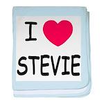 I heart stevie baby blanket