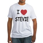 I heart stevie Fitted T-Shirt