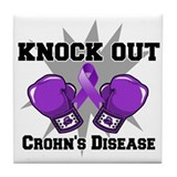 Knock Out Crohns Disease Tile Coaster