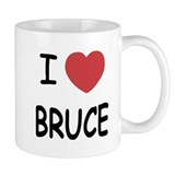I heart bruce Small Mugs