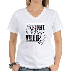 Fight Like a Warrior Women's V-Neck T-Shirt
