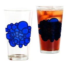 Blue Circles Drinking Glass