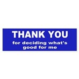 thank you... Bumper Bumper Sticker