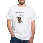 White T-Shirt / Barack Obama Jack Ass