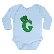 St. Patrick's Day Letter G Long Sleeve Infant Body